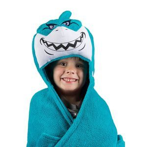 Comfy Critters Kids Robe Wrap Shark Pillow Blanet